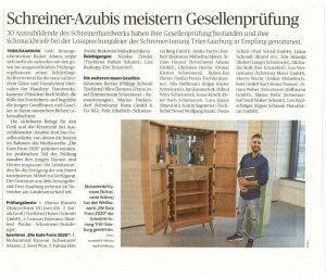 Artikel im Trierischen Volksfreund vom 18 Juli 2020